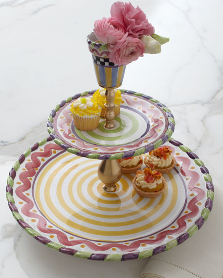 """""""Piccadilly"""" Grandstand Tiered Server"""