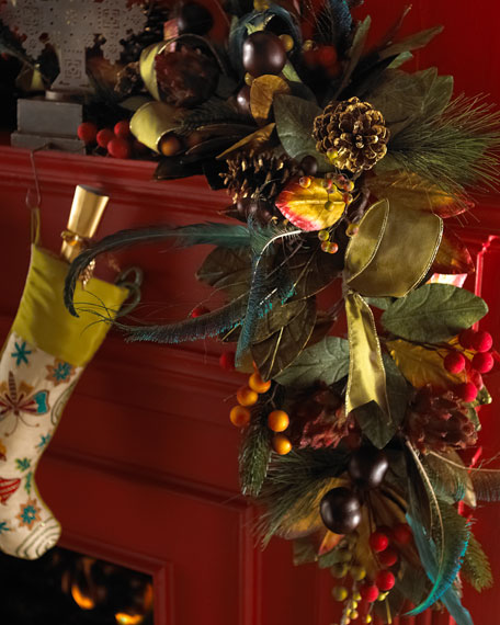 """Plumage"" Christmas Garland"