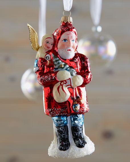 """""""Good Tidings"""" Santa Ornament"""
