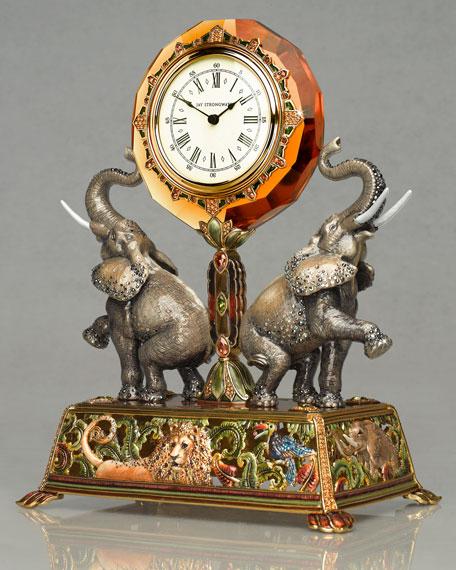 """Wellington"" Elephant Clock"