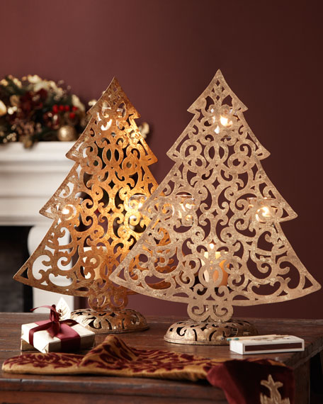 Laser-Cut Christmas Tree Votive Holder