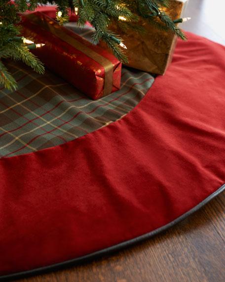 Plaid & Velvet Christmas Tree Skirt