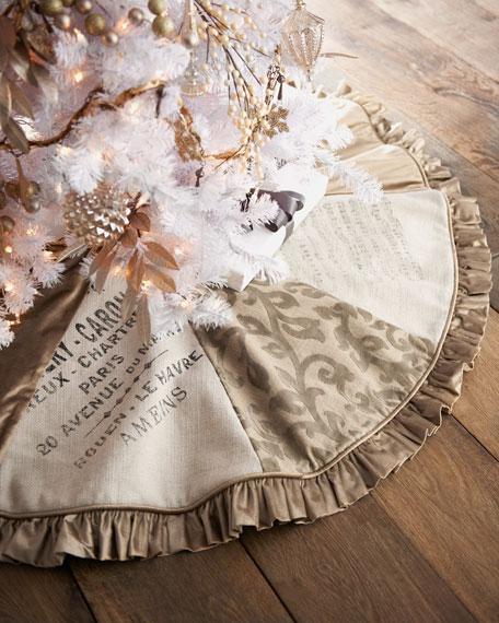"""""""French"""" Eight-Panel Christmas Tree Skirt"""