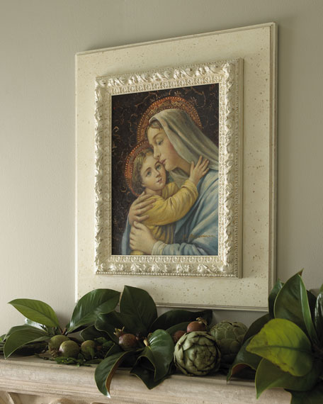 19th-Century-Style Madonna & Child Painting