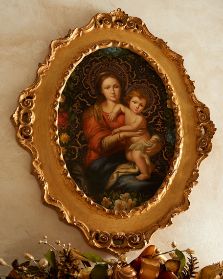 Madonna & Child with Roses Painting