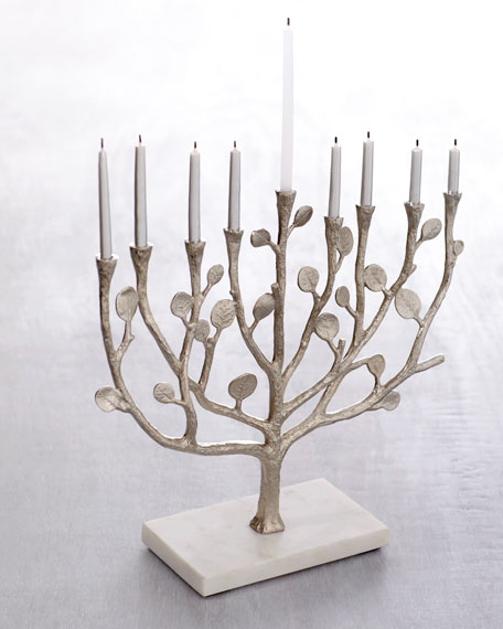 """Botanical Leaf"" Menorah"