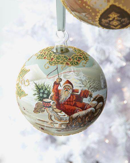 """Large """"Santa"""" Holiday Ornament"""