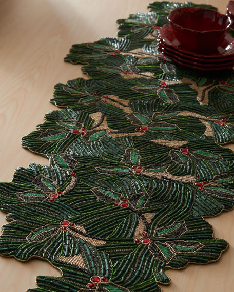 """Holiday Sprig"" Table Runner"
