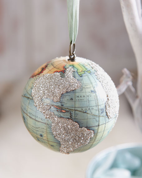 """Vintage Globe"" Holiday Ornament"