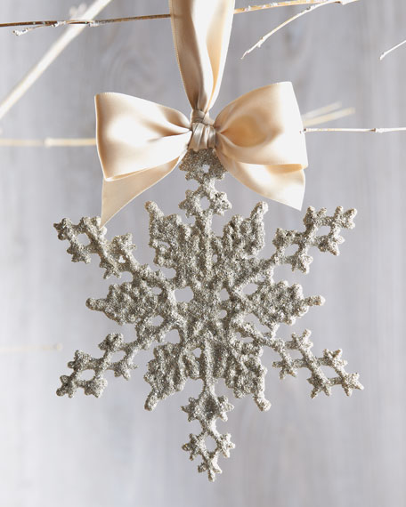 Winter Snowflake Holiday Ornament