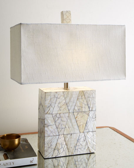 Crackled Mother-of-Pearl Lamp
