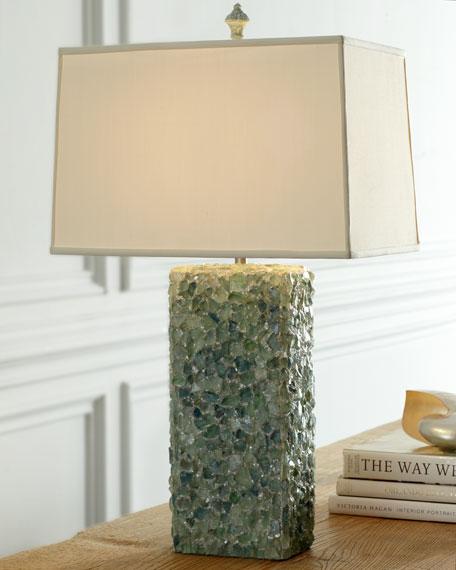 Emerald Fluorite Lamp