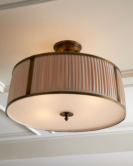 Pleated Shade Ceiling Fixture