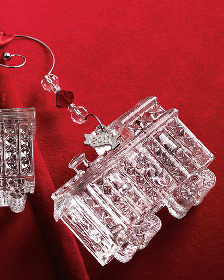Train Caboose Holiday Ornament