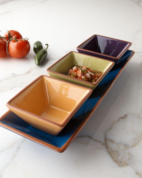 """""""Pinata"""" Tray & Square Bowls"""