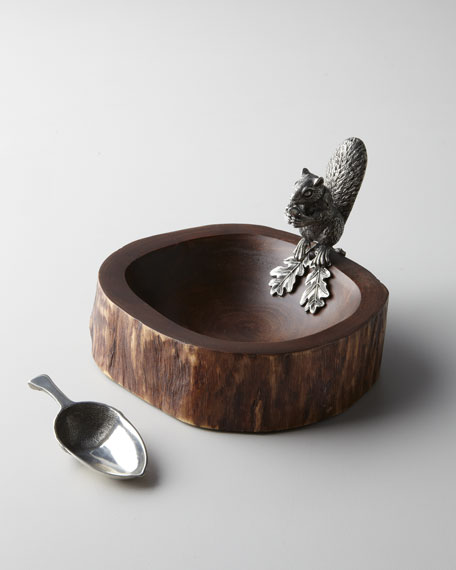 """Squirrel"" Nut Bowl with Scoop"