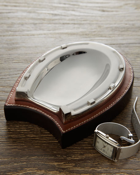 """Grayson"" Horseshoe Trinket Tray"