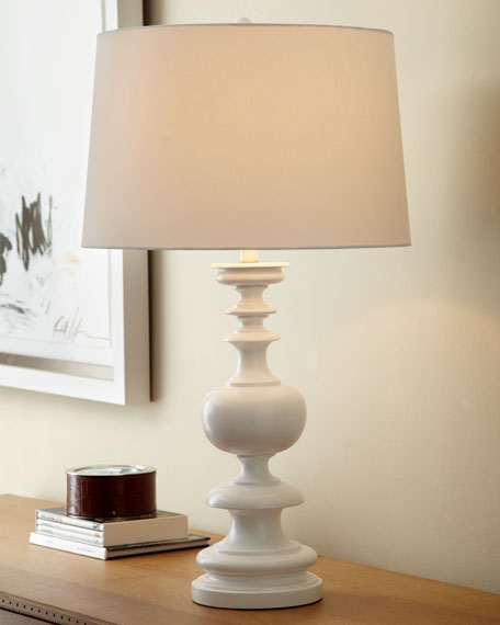 White Spindle Lamp