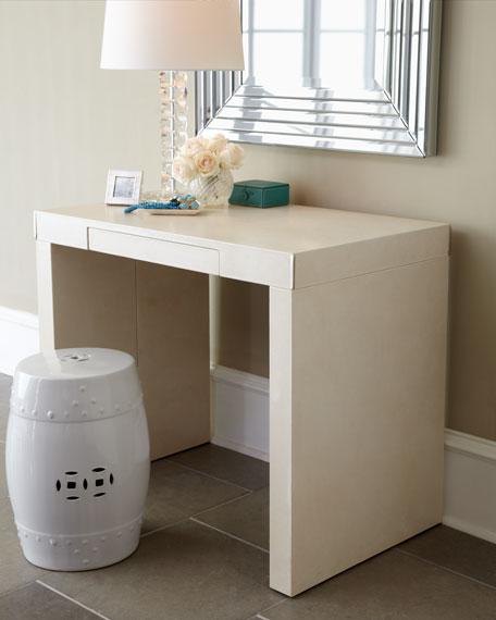 """Hilda"" Leather Desk/Vanity"