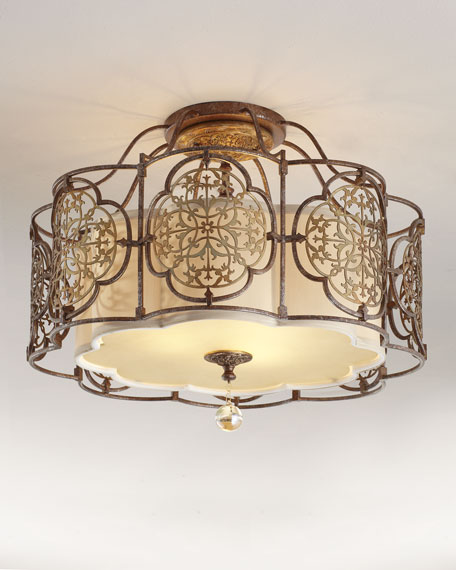 """Marcella"" Semi-Flush Ceiling Fixture"
