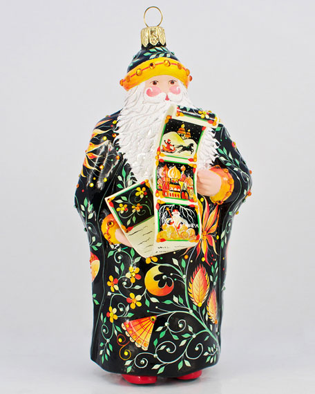 """Russian Fairy Tale"" Santa Ornament"