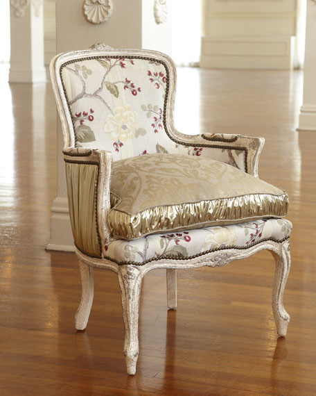 """Darra"" Golden Floral Chair"