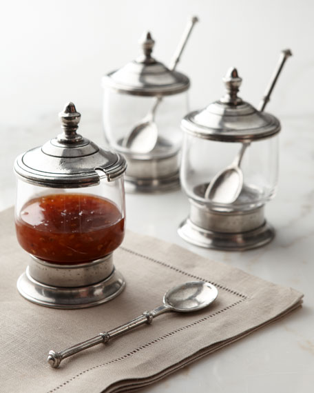 Three Condiment Jars