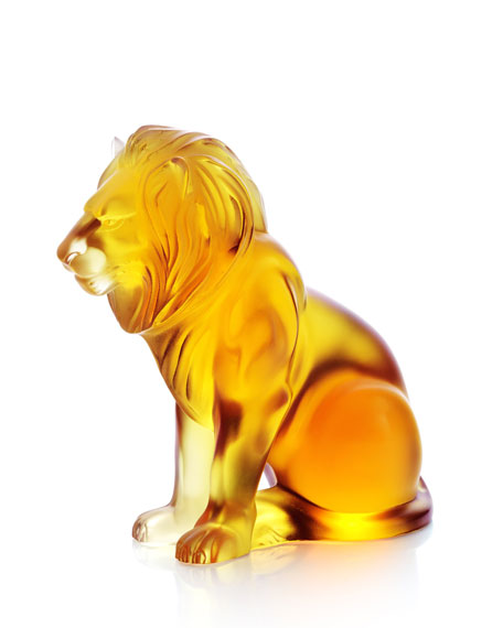 "Amber ""Bamara"" Lion Figurine"