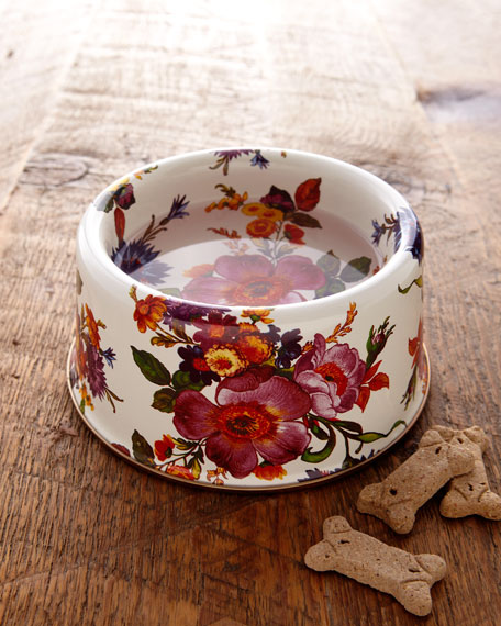 """Flower Market"" Pet Bowl"