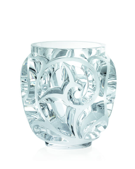 "Clear ""Tourbillions"" Crystal Vase"