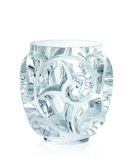 """Clear """"Tourbillions"""" Crystal Vase"""