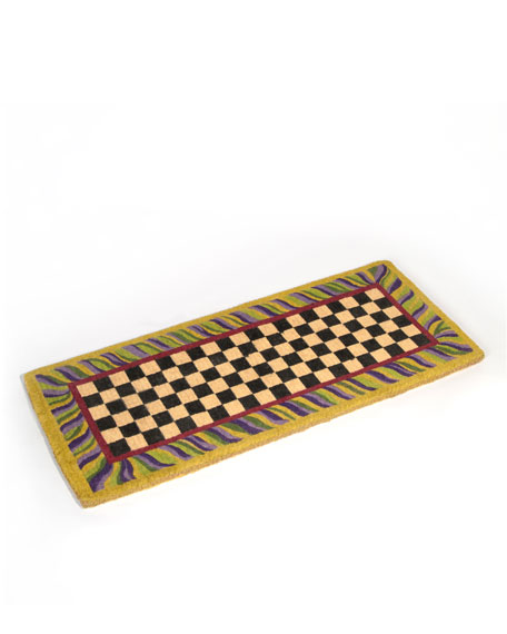 """Courtly Check"" Entrance Mat"