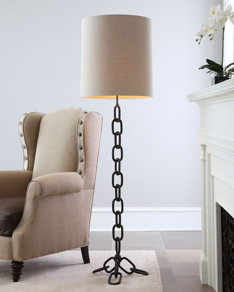 Chain-Link Floor Lamp