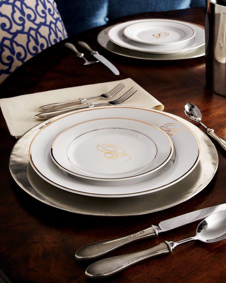 """""""Filet"""" Pewter Charger Plate"""
