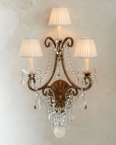 """Adriana"" Crystal Sconce"