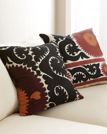 Dark Suzani Print Pillow
