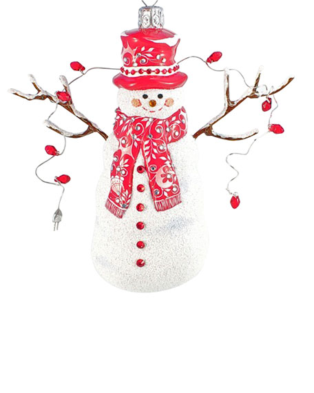 """Shalom Snowman"" Christmas Ornament"