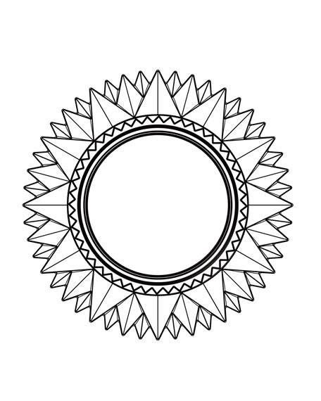 """""""Mille Nuits"""" Round Mirror"""
