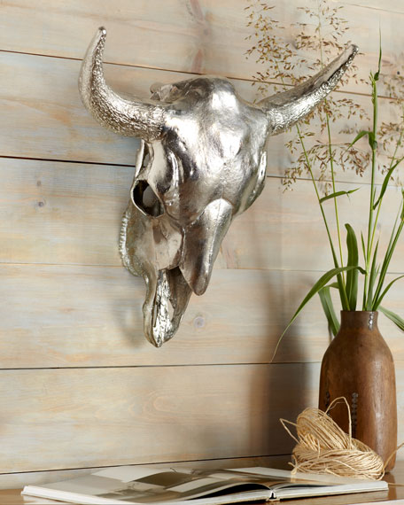 Bull Skull Wall Decor silver cow's skull wall decor