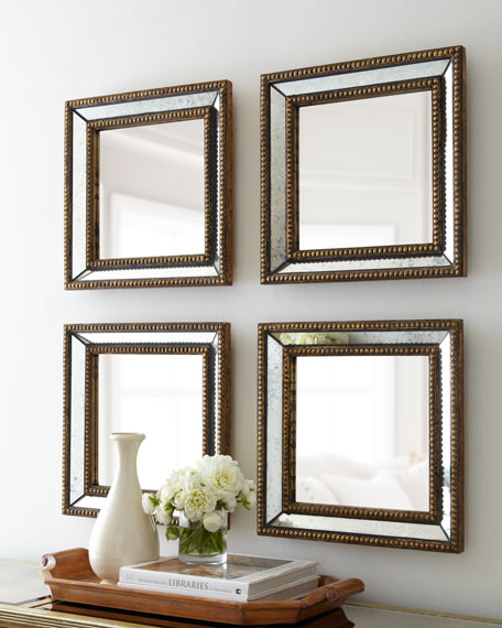 "Two ""Norlina"" Square Wall Mirrors"