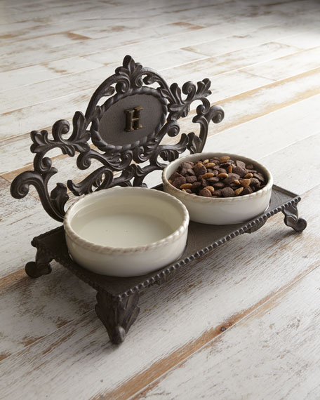 GRIFFEN PET BOWL W/ MONOGRAM