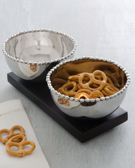 """Molten"" Double Snack Bowl Set"