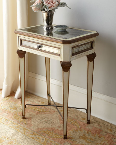 """""""Louis XVI"""" Mirrored Side Table"""