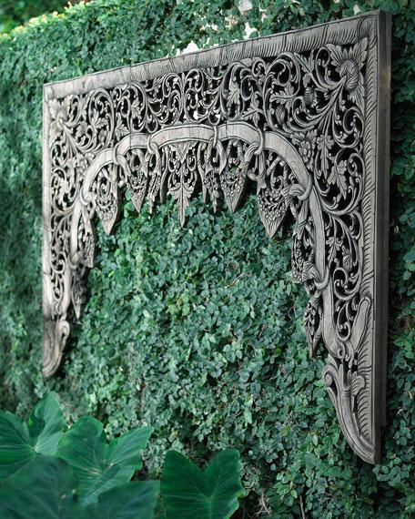 Outdoor Teak Woodcarving Wall Art