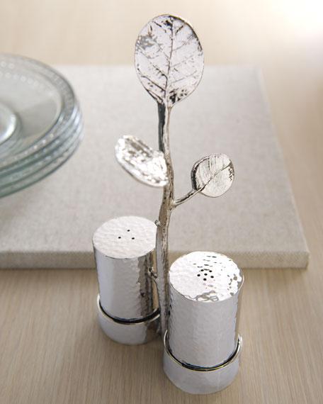 """Botanical Leaf"" Salt & Pepper Caddy"