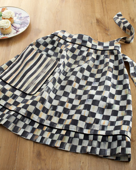 Courtly Check Hostess Apron