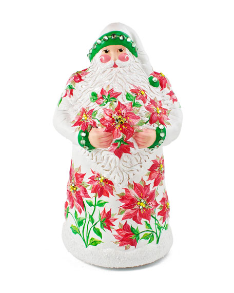 """Poinsettia Claus"" Christmas Ornament"