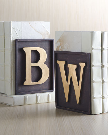 Monogrammed Bookend