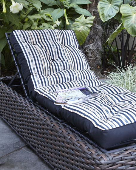 Reversible Courtly Check Chaise Cushion