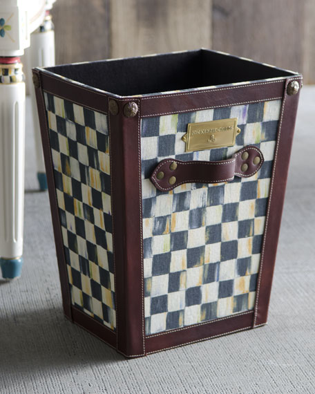 Courtly Check Waste Basket